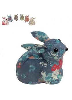Pinza papel conejo colores