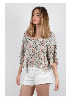 LADIES WOVEN TOP BOHEME