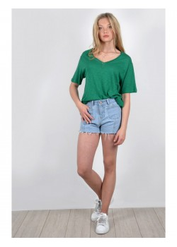 YOUNG KNITTED TEE VERDE