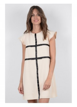 K768E18 LADIES WOVEN DRESS