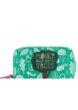 DDWAL DAY WAL BILLETERA VERDE CON ARBOL MONEY TREES