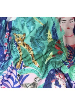 FRISCATRO FOULARD FRIDA TROPICAL