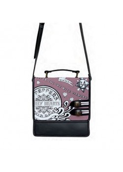 BOLSO BEATLES PEPPERS ROSA-NEGRO