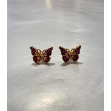 pendientes mariposa violeta