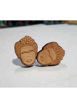 Pendientes de madera Frida